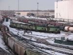 080216004 BNSF 1743-1744-1721-1488-1484 stored near Northtown diesel shop